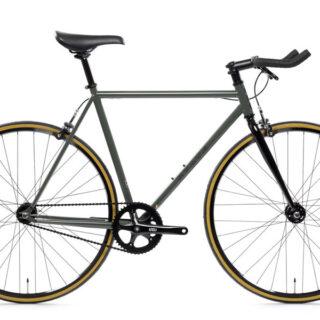 bicicleta fixie single-speed state army green